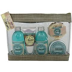 Idea Regalo - Kit Bain bilancio ambientale - fiori di peonia e patchouli - 5pcs - scatola regalo, regalo per le donne