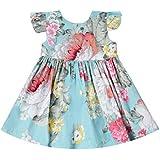 Ropa Niña Verano 2019 en Oferta, K-Youth Casual Lindo Vestido de Princesa con Estampado Floral para Niñas Sin Mangas Chica Vestido Bebé Niña Bautizo Ropa Bebé Recién Nacido Niña Fiesta Ceremonia