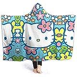Jasmin-Shop Kapuzendecke Make Up Minnie Mouse Print Super weiche Flanell Sherpa Plüsch Fleece tragbare Decke -50 'x 40'