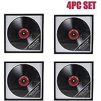 "Ardisle 4 X marco de registro de vinilo Retro LP Album Cover Frame Wall Display 12 ""caja de arte para colgar"