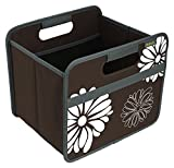 Meori A100032 Faltbox 15 Liter, Kakao braun Blumen