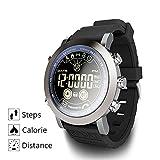 NBKLS Smart Watch Waterproof Fitness-Tracker mit Heart Monitor Bluetooth 4.0 Kalorienpedometer Sleep Monitor kompatibel mit IOS/Android/IP68 Waterproof