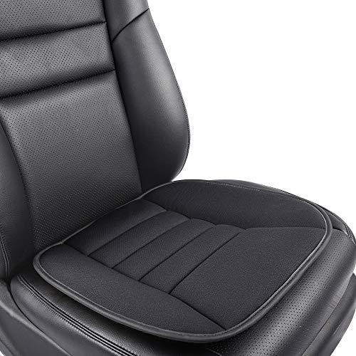 KOYOSO Auto Sitzkissen, Sitzkissen Auto Vordersitze Memory Schaum Pad Für Auto Büro Schmerzlinderung - Schwarz 1 PC -