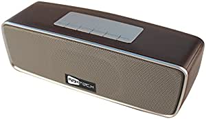 MAK Tech 8W RMS Rechargeable Bluetooth Speaker with Call Answer function and Inbuilt FM Radio , USB , Aux Port and Memory Card for Camping , Outdoors and Home
