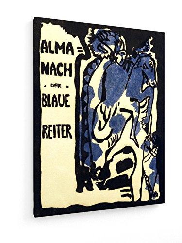 Wassily Kandinsky - Der blaue Reiter - 1911-75x100 cm - Textil-Leinwandbild auf Keilrahmen - Wand-Bild - Kunst, Gemälde, Foto, Bild auf Leinwand - Alte Meister/Museum