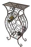 Dekoratives Weinregal für 13 Flaschen, mit Metallrahmen und Ablage