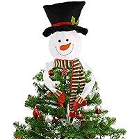 Kompanion Muñeco de Nieve para Decoración de Árbol Navideño – Tree Topper/Hugger para Decoración de Navidad – Ornamento de Temporada – Accesorio Decorativo para Crear un Ambiente Festivo