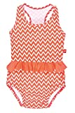 Lässig Splash & Fun Tanksuit/Baby Badeanzug girls, L / 18 Monate, zigzag peach