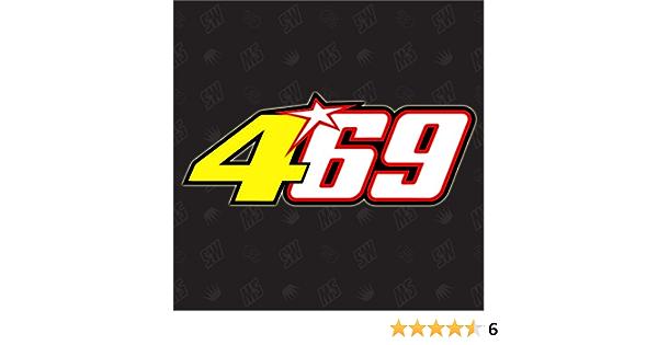 Speedwerk Motorwear 469 Startnummer Nicky Hayden Rossi Moto Gp Sticker Auto