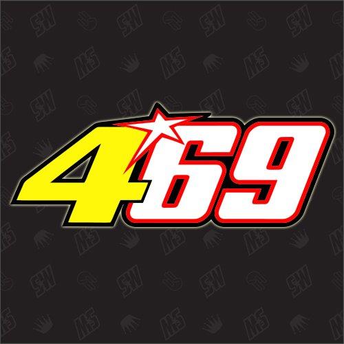 469 - Startnummer Nicky Hayden + Valentino Rossi Moto GP Sticker