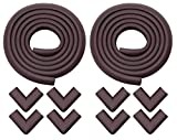 #8: Store2508 Child Safety Strip Cushion & Corner Guards with Strong Fibreglass Tape for Baby Safety Child Proofing (Brown)