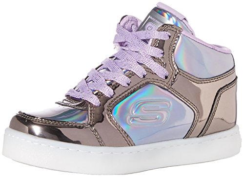 Skechers Energy Lights-Shiny Brights, Zapatillas Altas para Niñas, Multicolor (Gun Metal/Purple Gupr),...