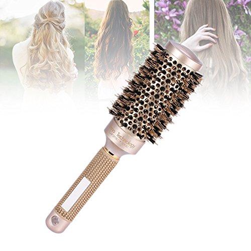 Cepillo nano cerámico iónico redondo secado cabello