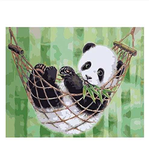 FULLLUCKY Malen Nach Zahlen Panda China Tier Cartoon Moderne Wandkunst Leinwand Malerei einzigartiges Geschenk Home Decor (Einzigartige Home Decor)