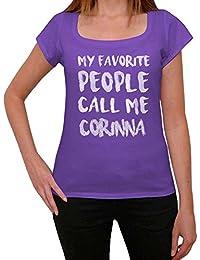 Corinna Femme T-shirt Violet Cadeau D'anniversaire