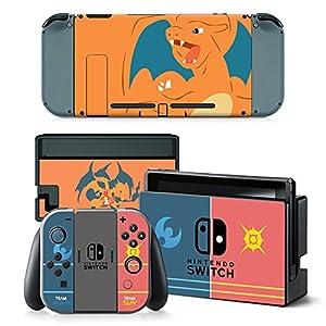 Nintendo Switch + Controller Aufkleber Schutzfolien Set – Pokemon (1) /Switch