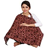 Lulamom Red Floral Printed Feeding Cloak /Nursing Cover