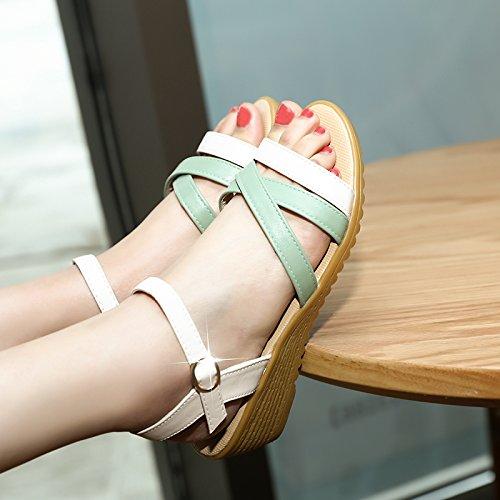 Lgk & fa estate sandali da donna estate Water Table tacco sandali col tacco scarpe casual green