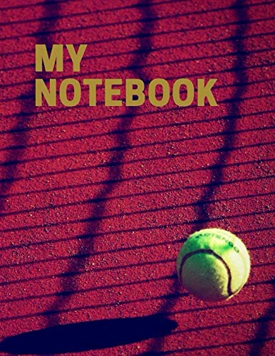 My Notebook. For Tennis Fans. Blank Lined Planner Journal Diary. por BBD Gift Designs