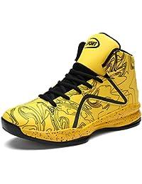 LANSEYAOJI Basketball Schuhe Herren Outdoor Anti-Rutsch Sneaker High-Top  Sportschuhe Laufeschuhe Atmungsaktiv Ausbildung d7453cb75b