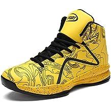 4863cfbc057 LANSEYAOJI Hombre Zapatillas de Baloncesto Calzado Deportivo Al Aire Libre  Moda High-Top Sneaker Antideslizante