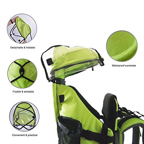 Baby Toddler Hiking Backpack Carrier w/Stand Child Kid Sunshade Shield