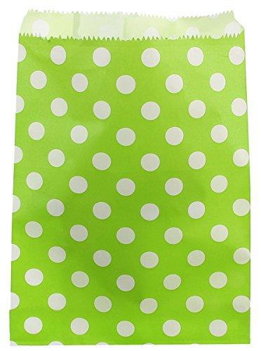 Lotto di 24 sacchetti per dolcetti, in carta, motivo a pois, da bar, per confetti-candy bar