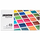 NEU Jaxon Aquarellfarben-Set 48 halbe Näpfe