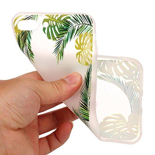 Cover iPhone 7 Plus, Voguecase Custodia Silicone Morbido Flessibile TPU Custodia Case Cover Protettivo Skin Caso Per Apple iPhone 7 Plus 5.5(Macchia-Anguria 06) Con Stilo Penna Macchia-Foglie Verdi 04