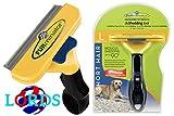FURminator L pettine spazzola cani di 23-41 kg pelo corto inferiore ai 5 cm