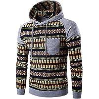 Yvelands Sudaderas para Hombre Active Sweatshirts, Sudadera para Hombre con Cuello Redondo y Cremallera de Camuflaje Novedad