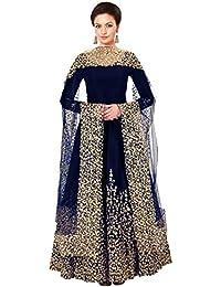 Fashion Basket Designer Embroidered Tafeta Silk Bridal Anarkali Salwar Suit