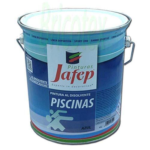 Vernice per piscine in gomma clorurata - Economico (4 litri, Blu)