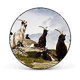 banjado - runde Magnettafel Pinnwand aus Stahl schwarz oder weiß