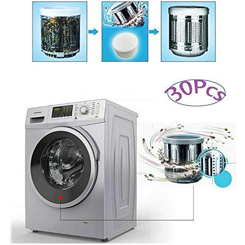 MMWA Lavatrice Lavastoviglie Vasca Bomba Detergente Pulizia Profonda Decalcificante Compresse effervescenti Forza Professionale Eliminatore di Macchie e odori per la casa e la Cucina (30 Pezzi)
