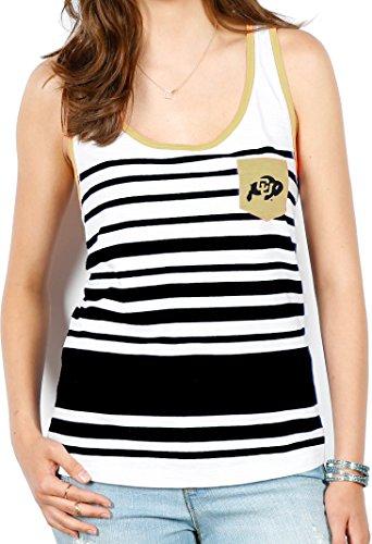 Unbekannt NCAA Damen Tank, gestreift, Damen, weiß, Large -