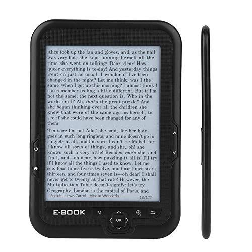 E-paper portatile da 6 '' con risoluzione 800x600 + lettore audio, lettore di e-book E-book con schermo a inchiostro elettronico Disponibile in 29 lingue con un paio di cuffie custodia(Nero 4G)