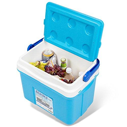 noorsk Klassische Kühlbox in verschiedenen Größen ideale Thermobox für das Auto und zum Camping