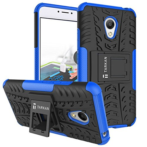 TARKAN Hard Armor Hybrid Rubber Bumper Kick Stand Back Case Cover For Meizu M3 Note [Blue]  available at amazon for Rs.179