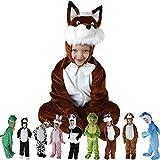 Kinder Faschingskostüme Tiere für die Größe 98-126 onesize in den Motiven Hase, Hund, Katze, Panda, Fuchs, Frosch, Krokodil, Delphin und Kuh (Hase)