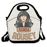 Copdsa Ronda Rousey boxe isolato personalizzato Tote lunch food bag nero
