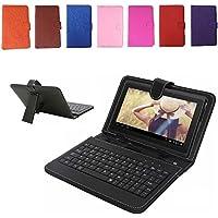 REALMAX® 7Pulgadas USB/Micro soporte para teclado Funda de piel sintética para tablet Android A13Q88regalo