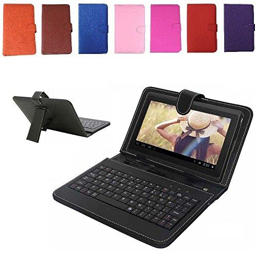 tastiera per tablet 7 pollici REALMAX® Tastiera USB/Micro Supporto Custodia in Pelle PU per Tablet Android da 7Pollici A13Q88Regalo