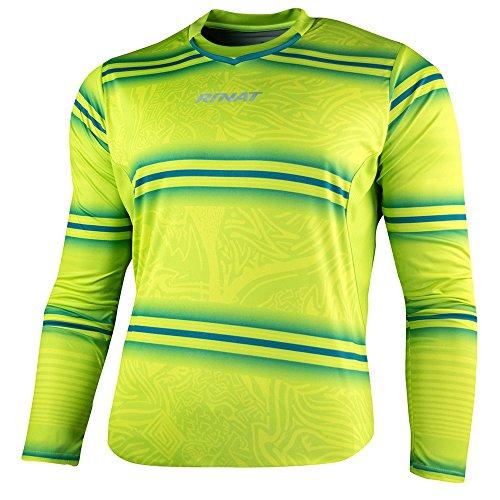 Rinat Erwachsene Jersey Gypsy Fußball-Torwart-Trikot, Neongelb/Grün, XL