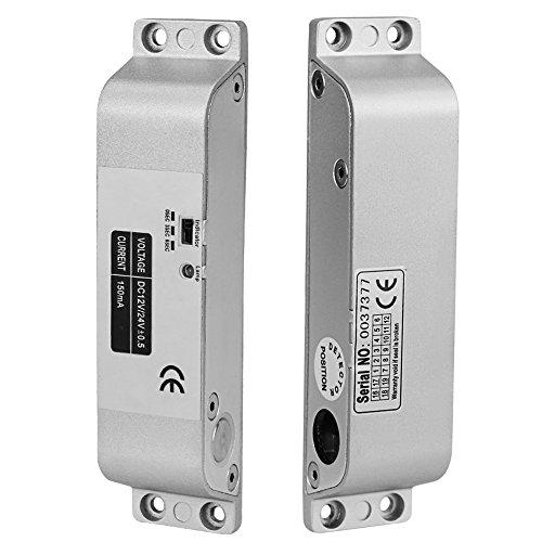 LIBO Cerradura de perno de descenso eléctrico DC 12V Fail Safe Modo NC Cerradura de puerta electrónica para el sistema de seguridad de control de acceso con tiempo de retraso