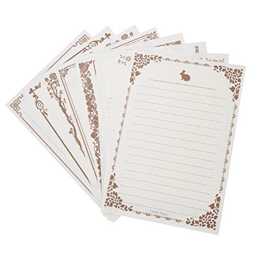 80 fogli di carta da lettere di carta da lettere di scrittura di cancelleria carta di auguri di carte assortite calligrafia schizzo carta intestata carta intestata d'epoca bianco