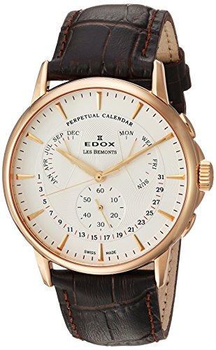 Edox Reloj Cronógrafo para Hombre de Cuarzo con Correa en Cuero 01602-37R-AIR