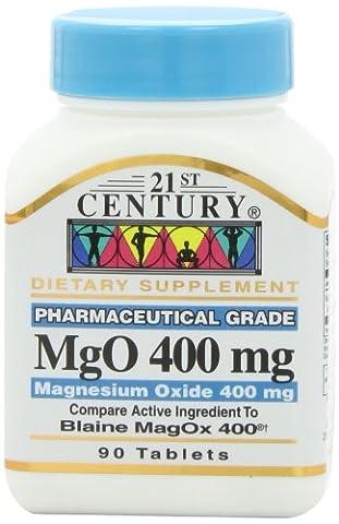 21st Century Health Care, MgO, Magnesiumoxid, 400 mg, 90 Tabletten