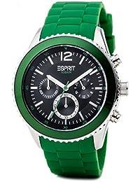 Esprit Herren-Armbanduhr Marin Men Green Chronograph Quarz Silikon ES105331007