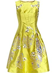 Good dress Vestidos sin mangas pequeño vestido,Amarillo,XXL